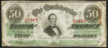Confederate Notes:1863 Issues, T57 $50 1863 PF-14 Cr. 412 Fine-Very Fine.. ...