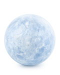 Lapidary Art:Eggs and Spheres, Blue Calcite Sphere. Madagascar. 3.35 inches (8.50 cm) indiameter. ...