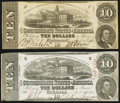 Confederate Notes:1863 Issues, T59 $10 1863 PF-1; -35 Cr. 445A; 444 Fine-Very Fine or better.. ...(Total: 2 notes)