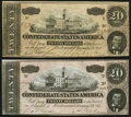 Confederate Notes:1864 Issues, T67 $20 1864 PF-36; -37 Cr. 536; 537 Fine-Very Fine or better.. ... (Total: 2 notes)