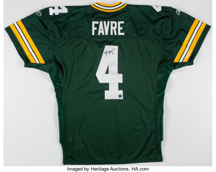 half off 1d1fb aa20a Brett Favre Signed Green Bay Packers Jersey.... Autographs ...