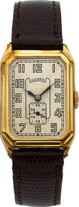 Timepieces:Wristwatch, Illinois Medalist, 14K Green Gold Filled, Manual Wind, Cir...