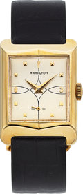 Timepieces:Wristwatch, Hamilton Roland, 14K Yellow Gold, Manual Wind, Circa 1954. ...
