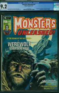 Monsters Unleashed #4 (Marvel, 1974) CGC NM- 9.2