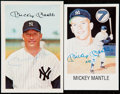 Autographs:Post Cards, Mickey Mantle Signed Postcard Lot of 2....