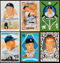 Autographs:Post Cards, 1989-90 Mickey Mantle Signed Perez-Steele Postcard Lot of 6....
