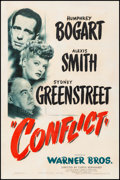 Movie Posters:Film Noir, Conflict (Warner Brothers, 1945). Very Good on Linen. ...