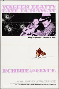 "Bonnie and Clyde (Warner Bros-Seven Arts, 1967). Folded, Very Fine. One Sheet (27"" X 41""). Crime"