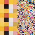 Prints & Multiples, Takashi Murakami (Japanese, b. 1962). Acupuncture/Flowers (Checkers), 2008. Offset lithograph in colors on smooth wove p...