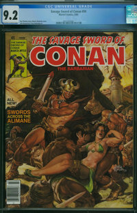 Savage Sword of Conan #50 (Marvel, 1980) CGC NM- 9.2 Off-white to white pages