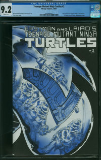 Teenage Mutant Ninja Turtles #2 (Mirage Studios, 1984) CGC NM- 9.2 White pages