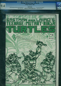 Teenage Mutant Ninja Turtles #4 (Mirage Studios, 1985) CGC NM 9.4 White pages
