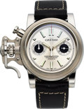 Timepieces:Wristwatch, Graham, Left-Handed Chronofighter Chronograph, Automatic, StainlessSteel, Limited Edition, No. 1984, Circa 2000s. ...