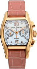 Timepieces:Wristwatch, Girard-Perregaux, Ladies Richeville Automatic Chronograph, 18K Pink Gold, No. 185, Ref. 2650, Circa 2000s . ...