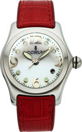 Timepieces:Wristwatch, Corum, Ladies Bubble, Stainless Steel, Quartz, Ref. 39.150.20,Circa 2002. ...