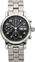 Timepieces:Wristwatch, Montblanc, Meisterstuck Star 4810 Chronograph, Automatic, StainlessSteel, Ref. 7016, Circa 2010. ...