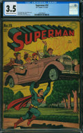 Golden Age (1938-1955):Superhero, Superman #19 (DC, 1942) CGC VG- 3.5 CREAM TO OFF-WHITE pages.