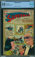 Golden Age (1938-1955):Superhero, Superman #97 - CBCS CERTIFIED (DC, 1955) CGC VG- 3.5 Cream tooff-white pages.