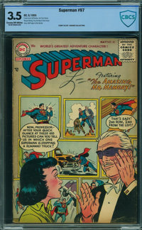 Superman #97 - CBCS CERTIFIED (DC, 1955) CGC VG- 3.5 Cream to off-white pages