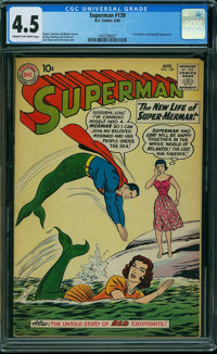 Superman #139 (DC, 1960) CGC VG+ 4.5 CREAM TO OFF-WHITE pages