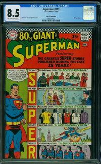 Superman #193 - JOHN G. FANTUCCHIO PEDIGREE (DC, 1967) CGC VF+ 8.5 Off-white to white pages