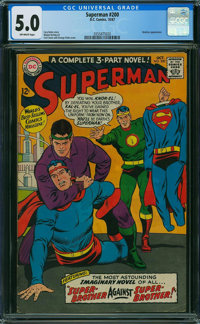 Superman #200 (DC, 1967) CGC VG/FN 5.0 OFF-WHITE pages