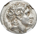 Ancients:Greek, Ancients: THRACIAN KINGDOM. Lysimachus (305-281 BC). AR tetradrachm (31mm, 17.45 gm, 1h). NGC MS ★ 5/5 - 4/5, Fine Style....