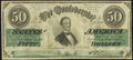 Confederate Notes:1862 Issues, T50 $50 1862 PF-13 Cr. 360 Fine.. ...