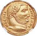 Ancients:Roman Imperial, Ancients: Maximian (AD 286-310). AV aureus (21mm, 5.19 gm, 11h).NGC Choice AU 5/5 - 3/5, edge marks....