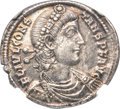 Ancients:Roman Imperial, Ancients: Constans, as Augustus (AD 337-350). AR light miliarense(25mm, 4.20 gm, 6h). NGC Choice XF 5/5 - 3/5....