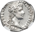 Ancients:Roman Imperial, Ancients: Augustus (27 BC-AD 14). AR denarius (20mm, 11h). NGC Choice MS ★ 5/5 - 5/5....