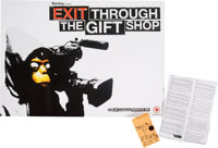After Banksy Exit Through the Gift Shop and Free Money/Free Art (two works), c. 2015 Off