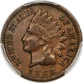 Indian Cents, 1888/7 1C Snow-1, FS-301, XF40 PCGS Secure....