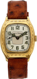 Timepieces:Wristwatch, Illinois Beau Royal, 14K Yellow Gold Filled, Manual Wind, Circa 1928. ...