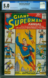 Superman Annual #6 (DC, 1962) CGC VG/FN 5.0 OFF-WHITE TO WHITE pages