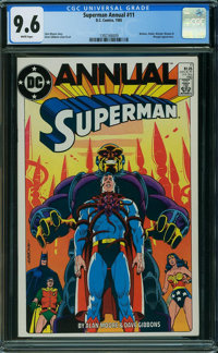 Superman Annual #11 (DC, 1985) CGC NM+ 9.6 WHITE pages