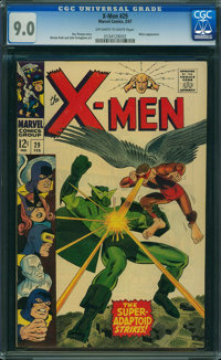 X-Men #29 (Marvel, 1967) CGC VF/NM 9.0 OFF-WHITE TO WHITE pages