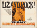 Movie Posters:Drama, Giant (Warner Brothers, R-1963). Folded, Fine+. Ha...