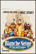 "Movie Posters:Animation, Snow White and the Seven Dwarfs (Discibel, R-1962). Folded, VeryFine-. Belgian (14"" X 21.5""). Animation.. ..."
