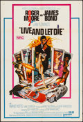 """Movie Posters:James Bond, Live and Let Die (United Artists, 1973). Folded, Very Fine-. Australian One Sheet (27"""" X 40""""). Robert McGinnis Artwork. Jame..."""