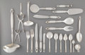 Silver & Vertu:Flatware, A One Hundred Twenty-Nine-Piece Georg Jensen Acorn Pattern Silver Flatware Service, Copenhagen, Denmark, designe...
