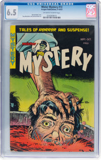 Mister Mystery #13 (Aragon, 1953) CGC FN+ 6.5 Off-white to white pages