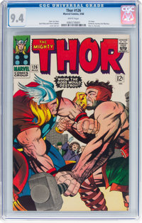 Thor #126 (Marvel, 1966) CGC NM 9.4 White pages