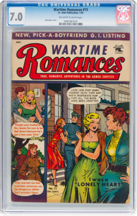 Wartime Romances #13 (St. John, 1953) CGC FN/VF 7.0 Off-white to white pages