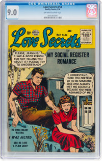 Love Secrets #53 (Quality, 1956) CGC VF/NM 9.0 Off-white to white pages