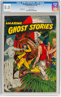 Amazing Ghost Stories #15 (St. John, 1954) CGC VF 8.0 Off-white pages