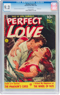 Golden Age (1938-1955):Romance, Perfect Love #3 (Ziff-Davis, 1951) CGC NM- 9.2 Off-white pages....
