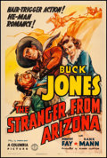 "Movie Posters:Western, The Stranger from Arizona (Columbia, 1938). Very Good/Fine on Linen. One Sheet (27"" X 41""). Western.. ..."