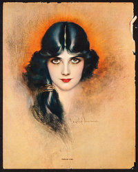 "Dream Girl by Rolf Armstrong (1920s). Fine. Art Print (8"" X 10""). Miscellaneous"