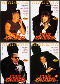 """Pulp Fiction (Miramax, 1994). Rolled, Very Fine+. Set of 4 British Posters (24"""" X 34""""). Crime. ... (Total: 4 I..."""